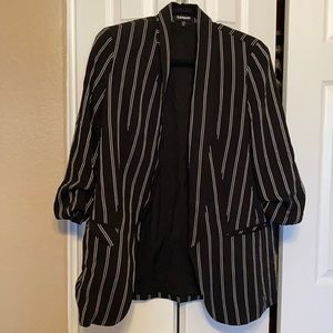 Long striped blazer